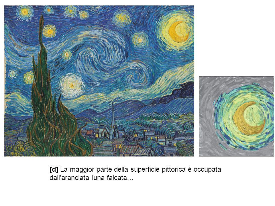 [d] La maggior parte della superficie pittorica è occupata dall'aranciata luna falcata…